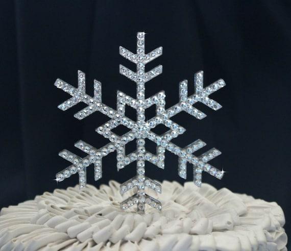 Snowflake Wedding Cake Topper Snowflake Cake Topper Winter