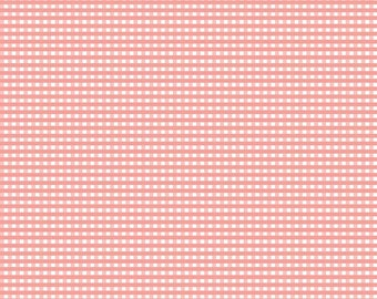 "FABRIC GINGHAM CORAL small check 1/8"" by Riley Blake   We combine shipping"