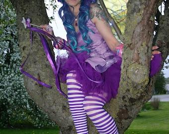 Lily The Fairy's Purple Striped Leggings