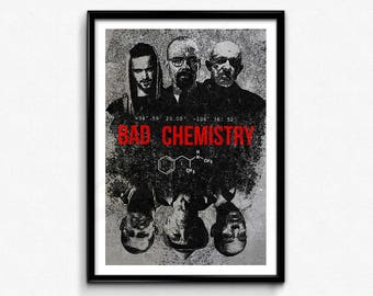 Breaking Bad Poster/Print - Bad Chemistry Poster/Print - Walter White, Jesse Pinkman, Heisenberg, Say My Name, CtrlAltGeek