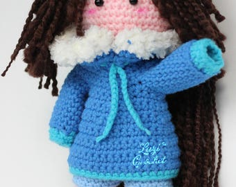 Katie Doll Amigurumi Crochet Pattern Tutorial Kawaii Toy Plush Chart Doll Handmade Chibi Doll Crochet Pattern designed by Lazi Crochet
