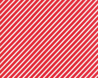 Vintage Holiday (55168 11) Red Bias Candy Stripe Bonnie & Camille