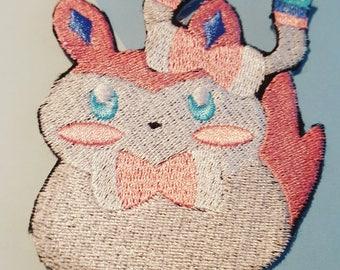 """Eeveelution Pokemon Sylveon 3.5"""" Iron On Patch"""