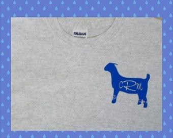 Personalized  goat shirt - monogram goat shirt - monogrammed ffa goat shirt - ffa goat - 4H goat t shirt