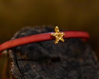 Leather bracelets, macrame bracelets, winter jewelry set