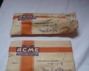 Pair of  Vintage Acme Twin Curl Cutter's