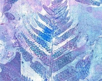 purple fern print
