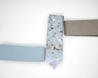 No#364,402 matte cotton,shine satin,beach, wood wedding,surf,blue grey groom,groomsmen,men,dusty blue brown taupe pantone wedding neck tie