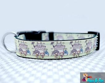 """Totoro Anime 1"""" Wide Dog Collar"""