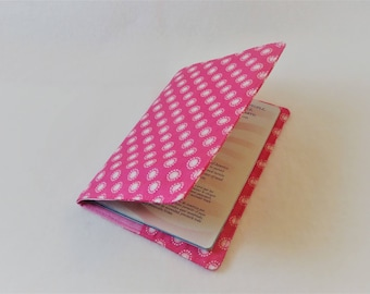 Passport Cover in Pink and White Polka Dot