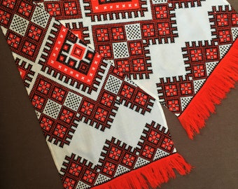 Embroidered Towel, Ukrainian Gift, Wedding Towel, Rushnyk, Home Decor