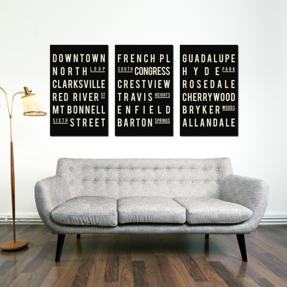 Home Decor Austin: Austin Poster Art Print Typography Poster Home Decor Home