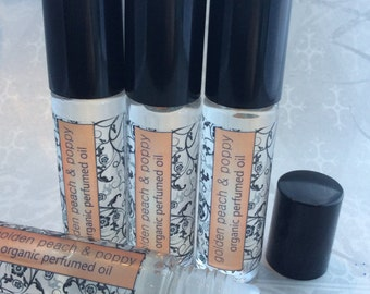 Golden Peach & Poppy Organic Perfumed Oil