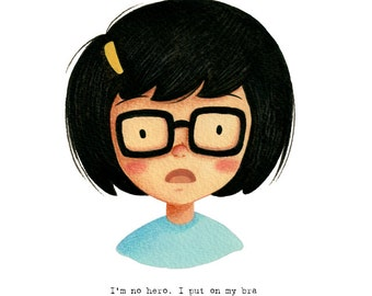 Tina Belcher from Bob's Burgers - open edition art print