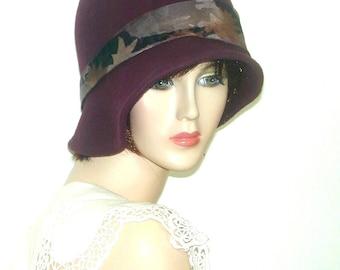 Custom Vintage Miss Fisher Asymmetrical cloche GatsbyDownton Abbey hat