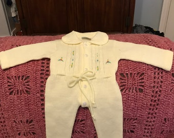 Vintage Infant Yellow Sleeper, Onesie