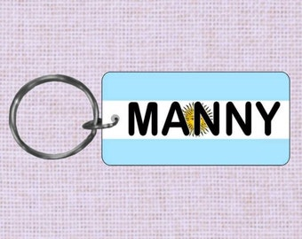 Personalized Argentina Country flag keychain