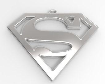 Superman Sterling Silver Pendant