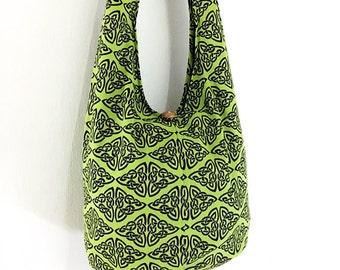 Women bag Handbags Thai Cotton bag Hippie bag Hobo bag Boho bag Shoulder bag Sling bag Messenger bag Tote bag Crossbody bag Purse Green