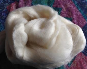 Merino Wool 2oz Spinning Fiber White Felting Fiber