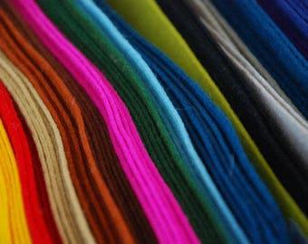 WOOL FELT Collection ~ 100% Wool Felt Oekotex Standard ~ 1-1.2mm felt sheets