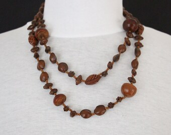 Vintage Nut Necklace * Free SHIPPING *