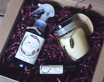 Relaxation Gifts Set - Spa Gift - Essential Oil Roll On - Aromatherapy Lavender Spray - Lavender Gifts - Essential Oils - Chemical Free