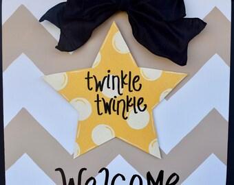 Twinkle Twinkle Little Star Baby Door Hanger Baby Shower Door Decor Baby Star Door Hanger (Attachment Only) & Baby door hanger | Etsy