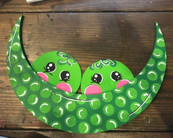 YEAR ROUND Peas In The Pod Door Hanger with seasonal shapes!
