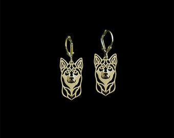 Lapponian Herder (Lapinporokoira) earrings - Gold