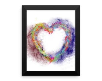 Burning Heart Framed poster