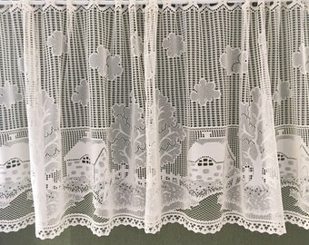 Country Lace Kitchen Curtains