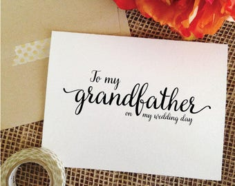 To my grandfather on my wedding day grandfather gift grandfather of the bride gift grandfather of the groom gift ( Lovely )