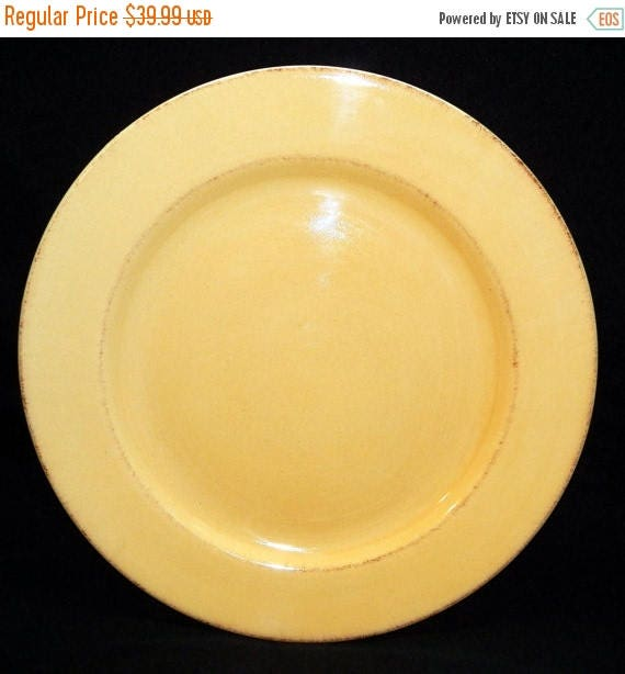 & ON SALE Pier 1 One TOSCANA Gold Dinner Plates Lot of 2 all