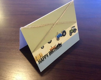 Happy Birthday, tractor card