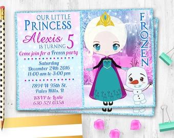 Frozen invitation etsy filmwisefo Images