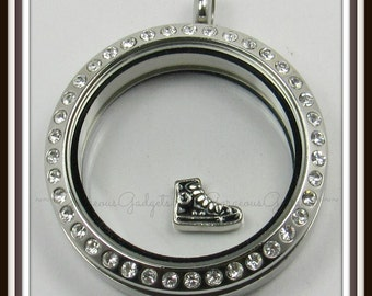 Converse Hightop Floating Charm for Glass Locket / Floating Locket / Living Locket