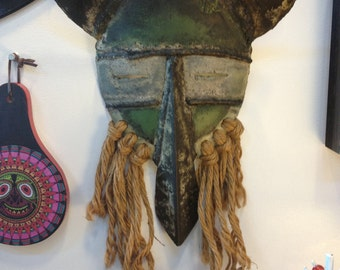 Tribal Vintage Mask, Steel and Rope