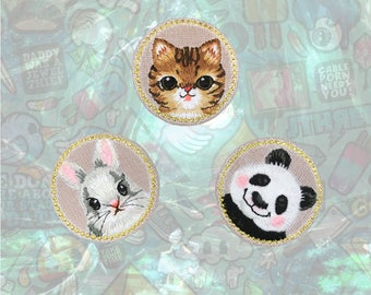CUTE Patch Pet Animal Patch Iron on Patch Sew On Patches back patch