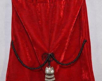 Red Velvet Owl Bag