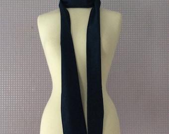 Denim skinny neck scarf