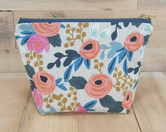 Floral Makeup Bag, Bridesmaid Gift, Bridesmaid Proposal, Bridal Shower Gift, Gift for Women, Birthday Gifts for her, Flower Girl Gift, Boho
