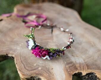 flower hair wreath romantic wedding crown children headpiece woodland headwreath hair flowers