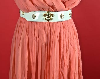 Lilli Diamond Peach Orange Sheer Dress 1950/1960