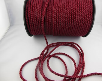 1 meter Burgundy beaded cord