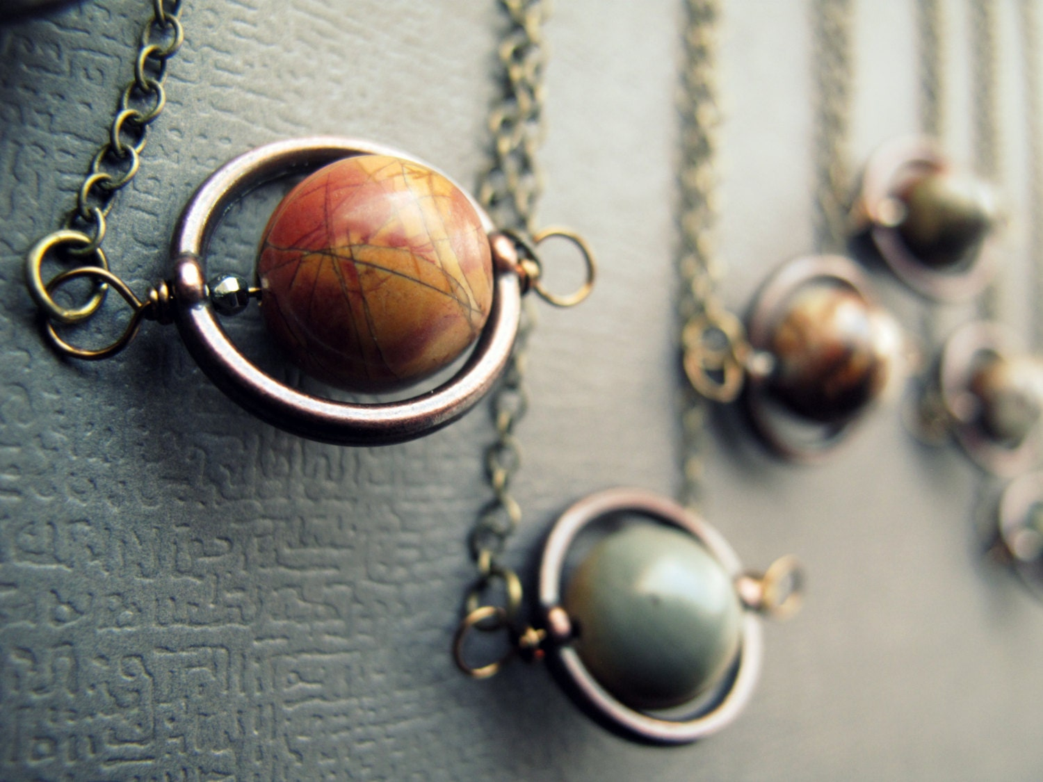 Planet necklace solar system necklace outer space jewelry zoom aloadofball Gallery