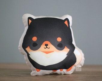 Black & Tan Pomeranian Pillow