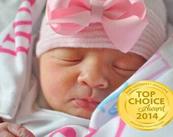 newborn hospital hat newborn bow hat newborn girl hat newborn beanie newborn hospital hat with bow baby girl hat baby beanie, baby hat