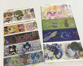 SAMPLE: 9 Designs of Sailor Moon Limited Edition Washi Tape (1m each)