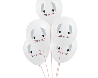 Bunny Balloons - Bunny Party Supplies, Some Bunny is One, Bunny Birthday Decoration, Bunny Decoration, Rabbit Party Decor, Rabbit Birthday